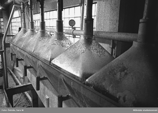 Interiördetalj från pappersfabriken.Bilden ingår i serie från produktion och interiör på pappersindustrin Papyrus.