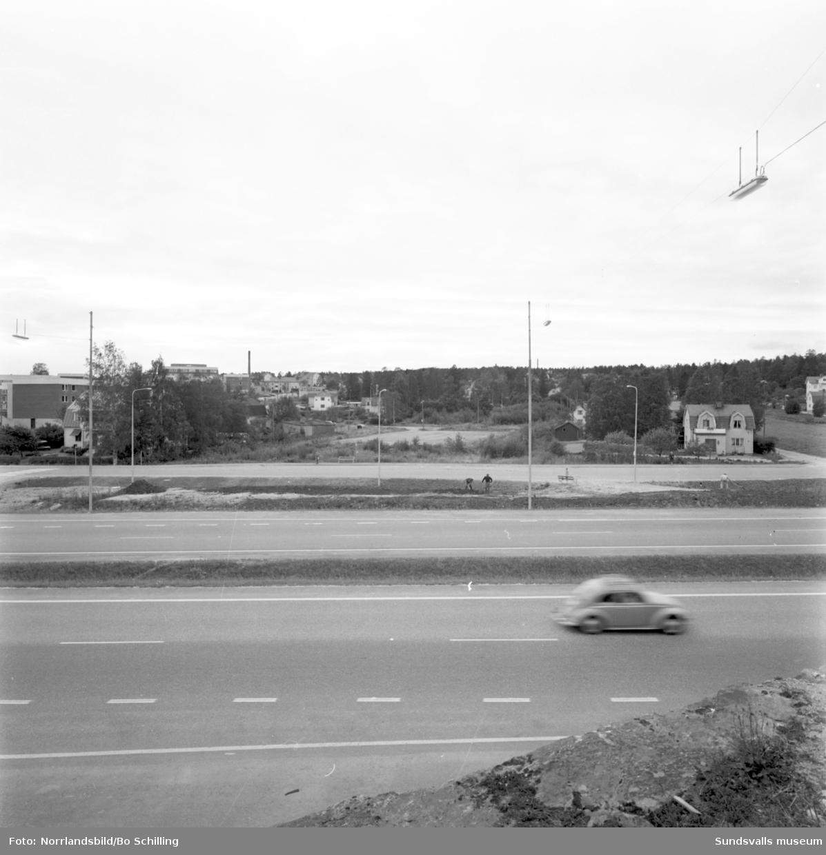 Kvarteret Läkaren och Veterinären i Skönsberg/Haga (Riddargatan), fotograferat för Centrala Byggnadskommittén.