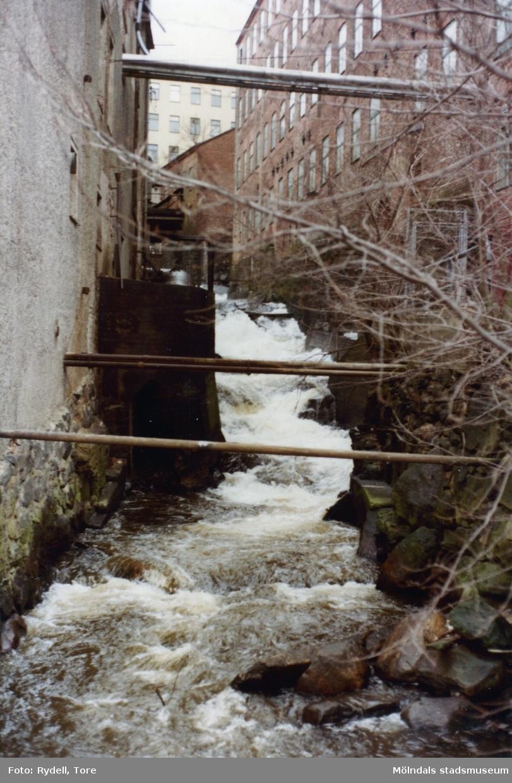 Mölndalsfallen utanför Stora Götafors i Mölndals Kvarnby på 1980-talet.