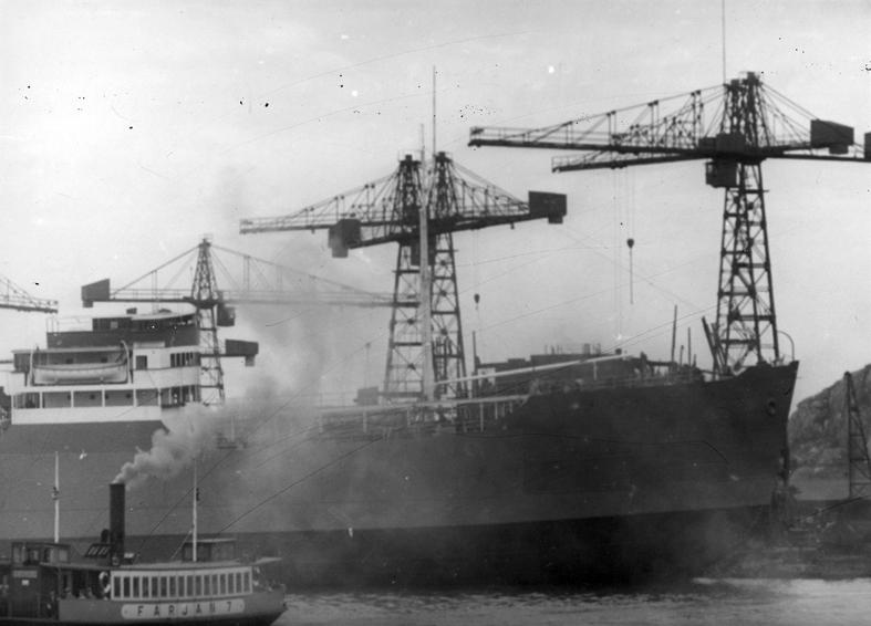 Fil lic. gunnar Jonssons undersökningsresa till Västkusten juni 1940. 5. Göteborgs hamn juni 1940. Götaverken