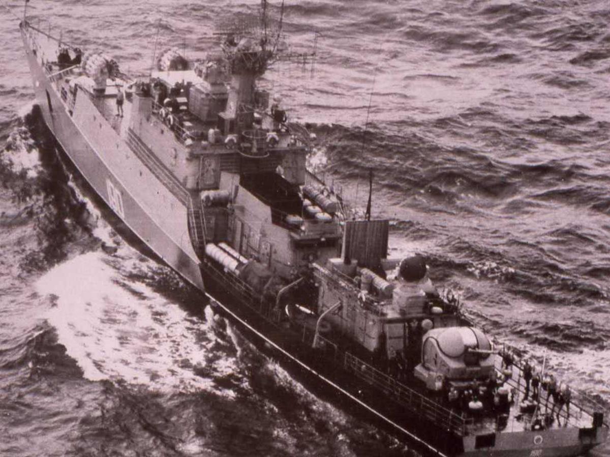 Russisk fartøy av Grisha I - klassen med nr. 190.