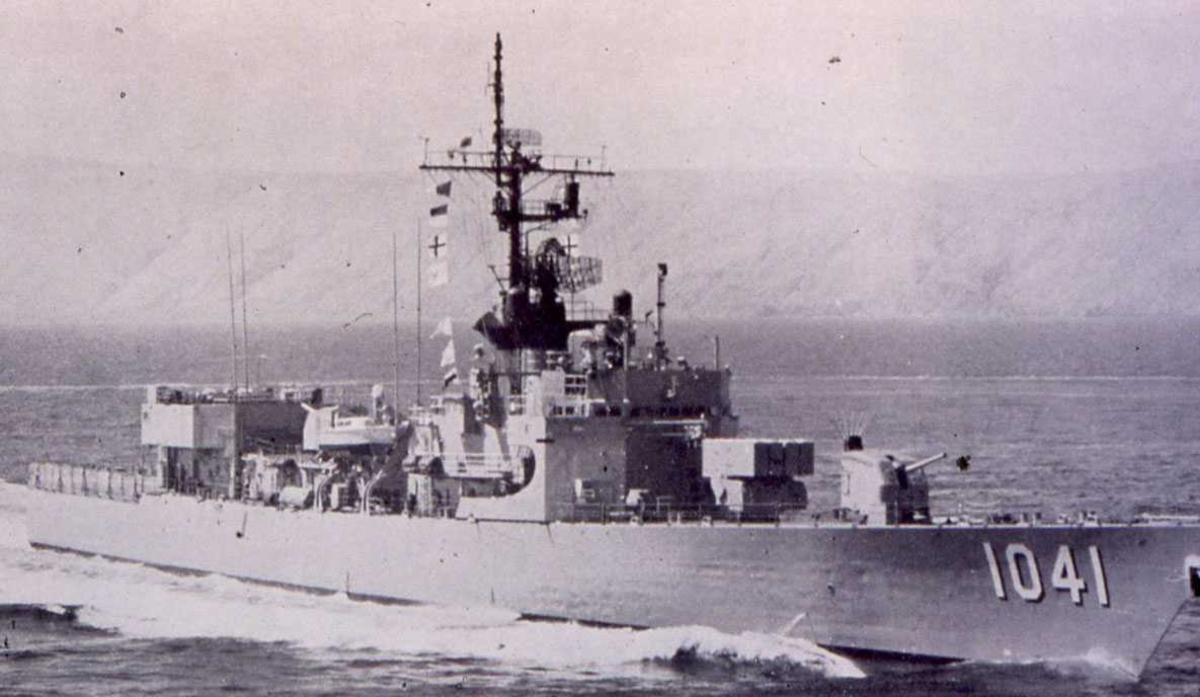 Amerikansk fartøy av Garcia - klassen som heter Bradley og har nr. 1041.