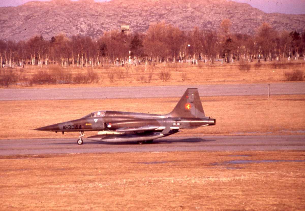 Nederlandsk fly av typen Northrop NF-5A Freedom Fighter med nr. K-3044 og som tilhører 314 skvadron, Nederland Flyvåpen.