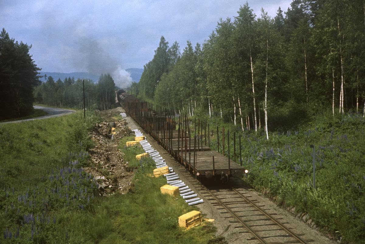 Godstog på Solørbanen trukket av damplokomotiv type 26c