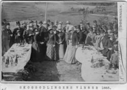 """På baksidan skrivet: """"Fotografiet taget omkr. år 1883 på Her"""