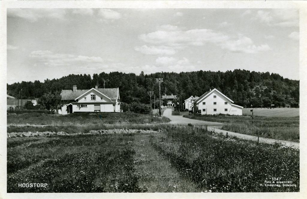 """Text på kortet: """"Uddevalla. Hogstorp""""."""