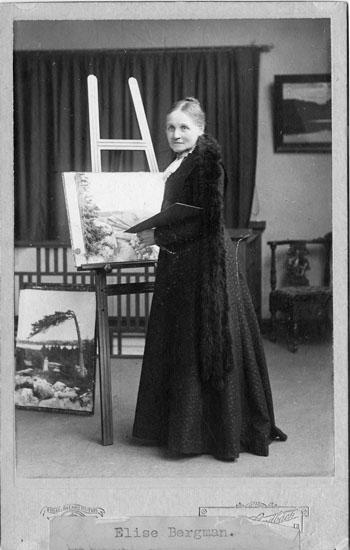Landskapsmålarinnan Elise Bergman, Uddevalla 1911