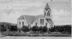 """Enligt text skrivet på baksidan """"Kville kyrka""""."""