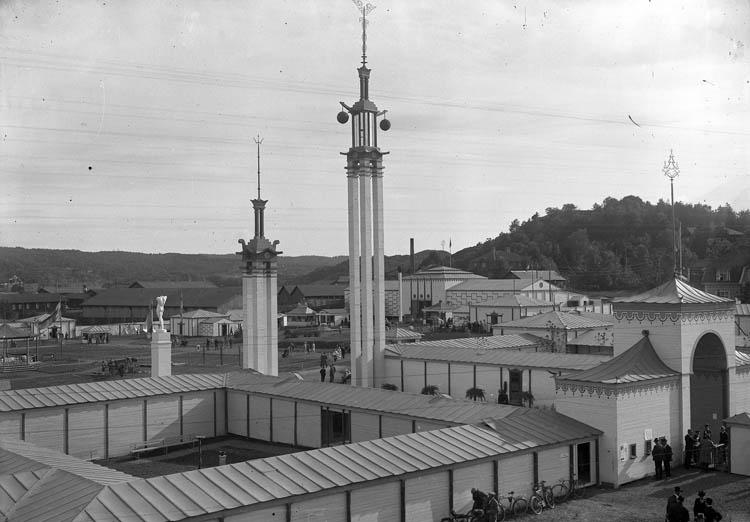 Vy över Uddevallautställningen 1928