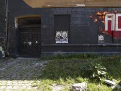 Blitzhuset, graffiti, plakater