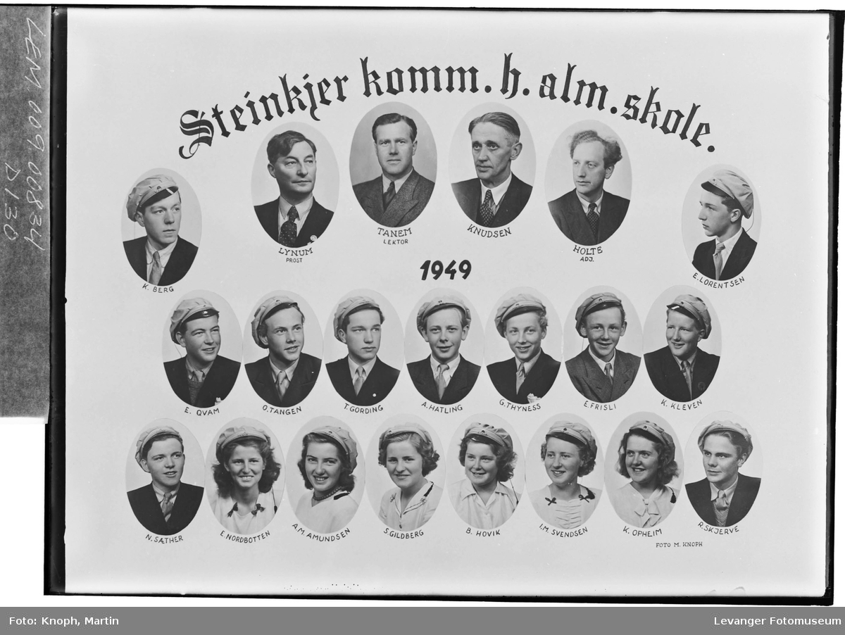 Steinkjer komm. h.alm.skole, 1949