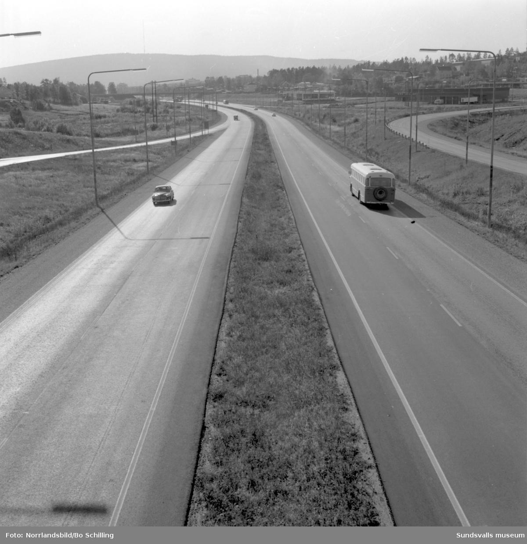 Motorvägen vid Bydalen och Skönsberg.