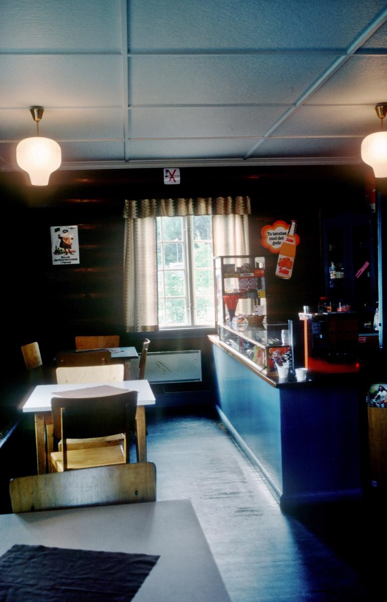 Interiør Tinnoset stasjon. Her var det kafe som ble drevet av stasjonsmesteren.