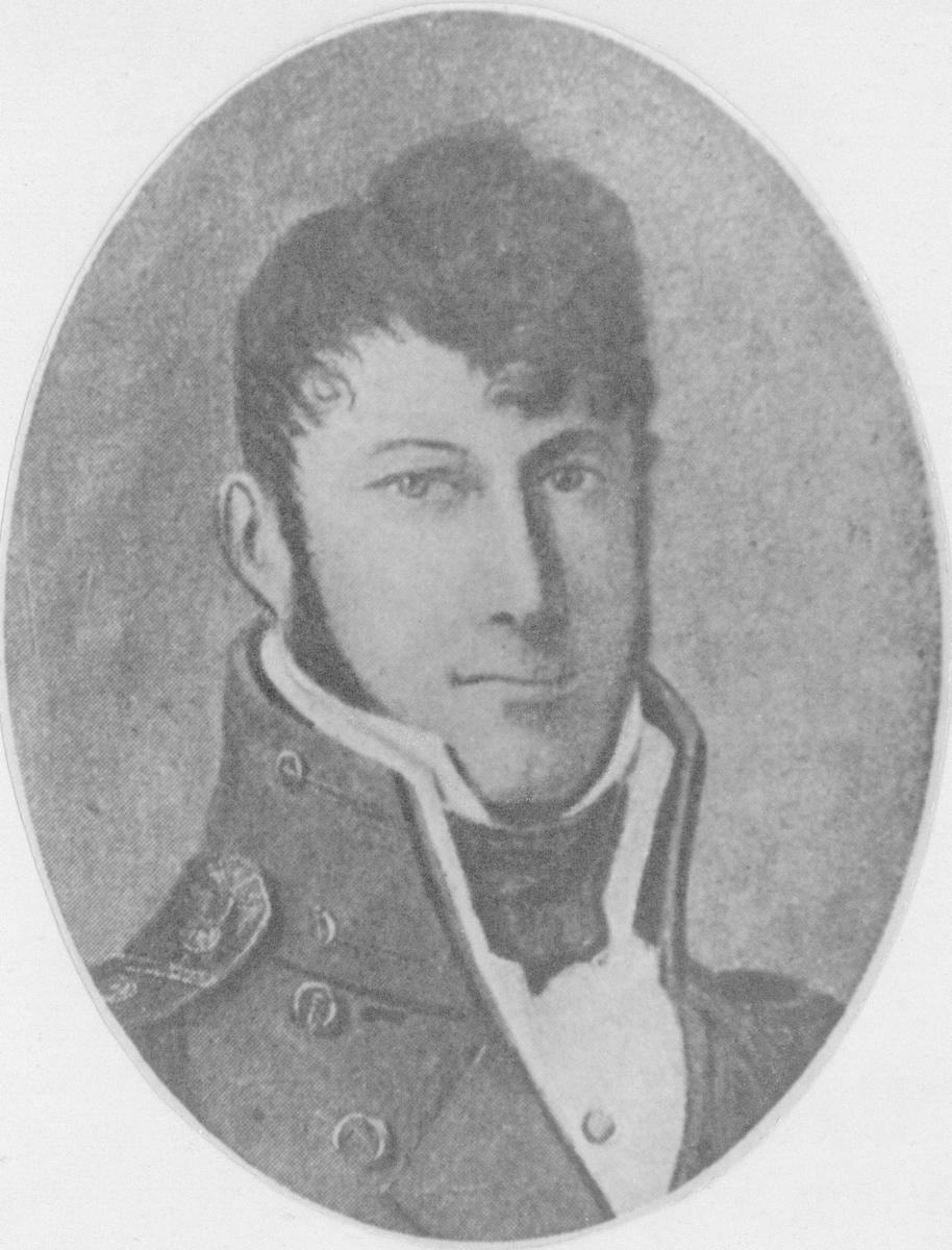 Museets stifter kommandørkaptein C.F.KLINCK. Født 1787- død 1860. Ved 25 årsalder.