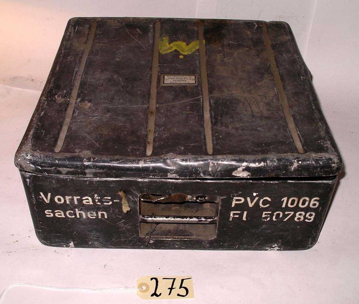 "Påført merking ""Vorrats sachen PVC 1006 FL. 50789"""