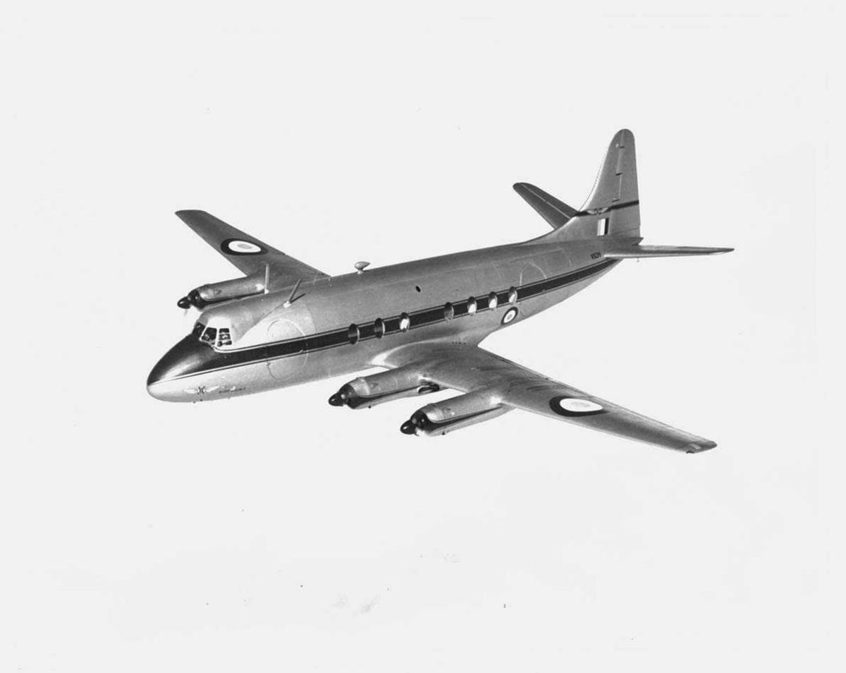 Ett  fly i lufta. Vickers Viscount V.C.2, VX211