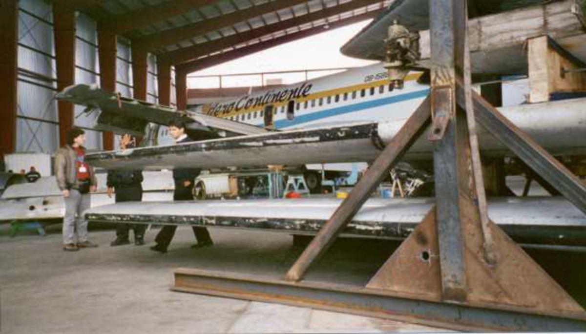 Vingene til en F-28 Fokker Fellowship