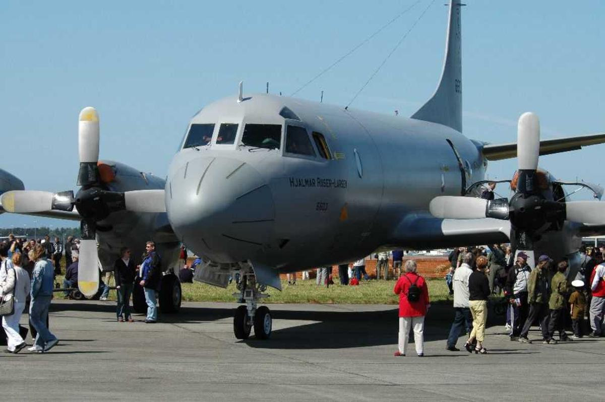 Fly på bakken. Orion P-3N. nr 6603 tilhørende 333 skvadronen