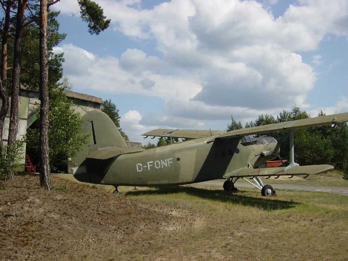 Ett fly på bakken. Antonov An-2, D-FONF.