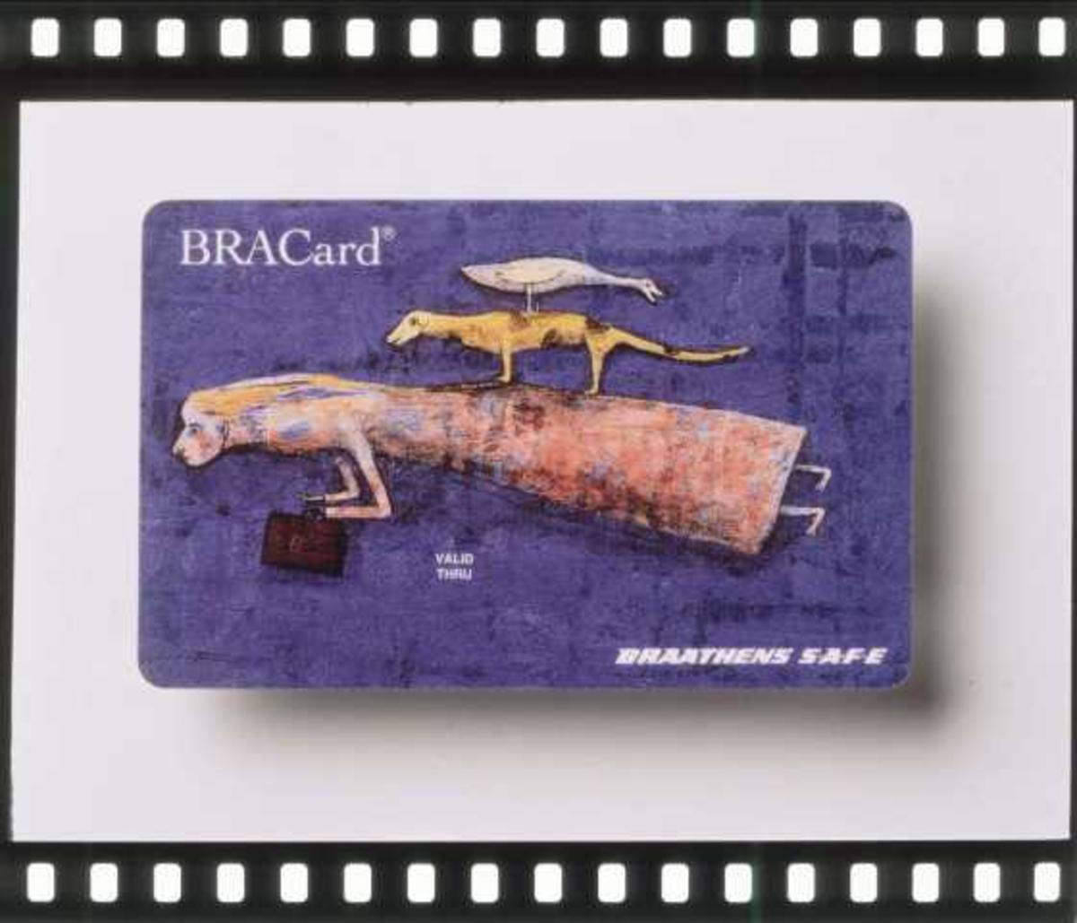Braathen SAFE sitt bonuskort. BRACard. Blå utgave uten påskrift.