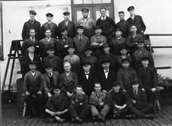 Gruppkort på Karlskronavarvet filareverkstadens personal