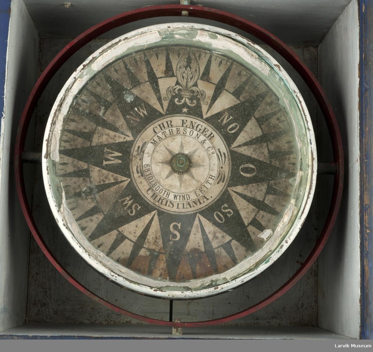 Luftkompass med slingrebøyler, i kasse