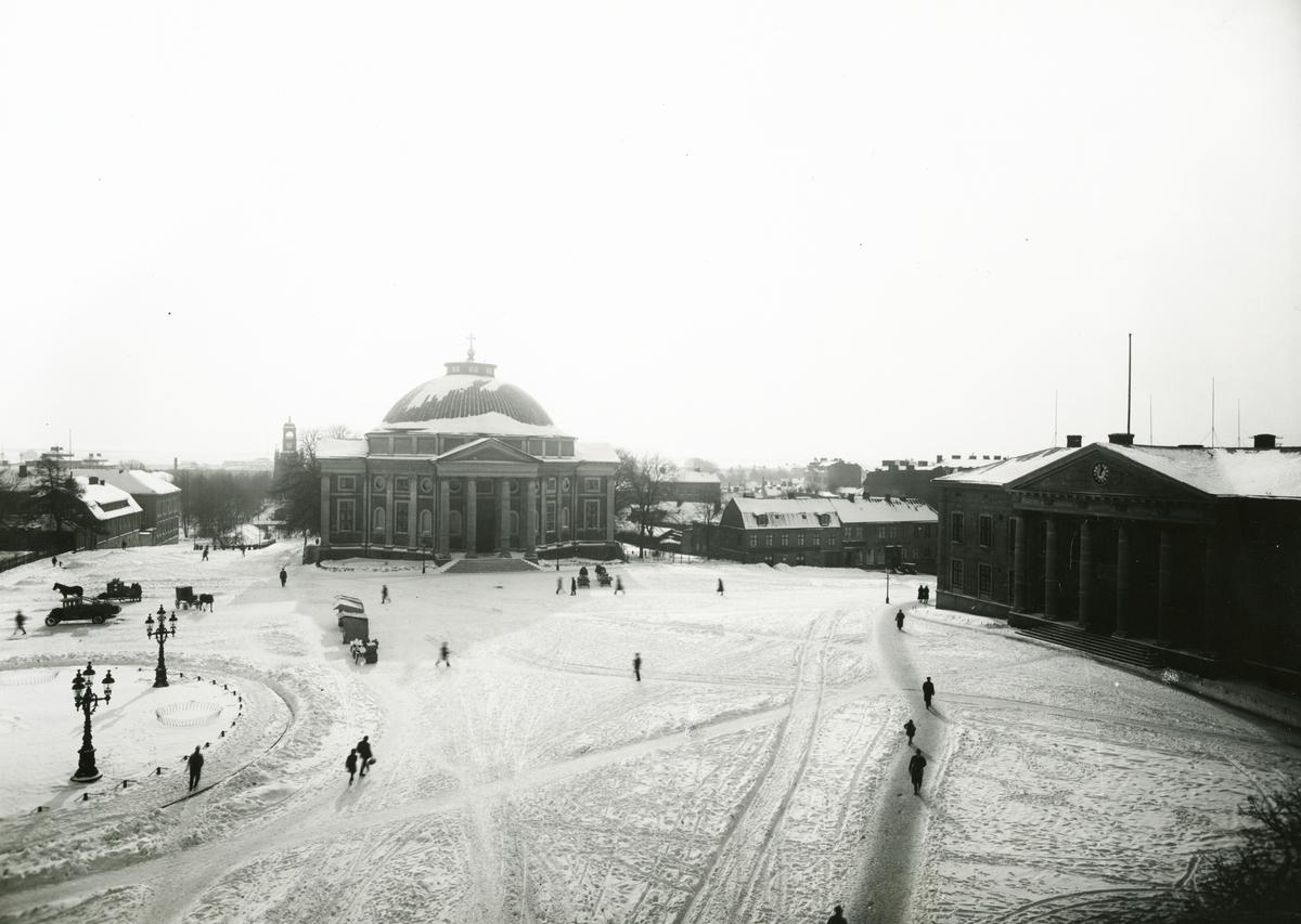 Övrigt: Stortorget i Karlskrona på 1920-talet.