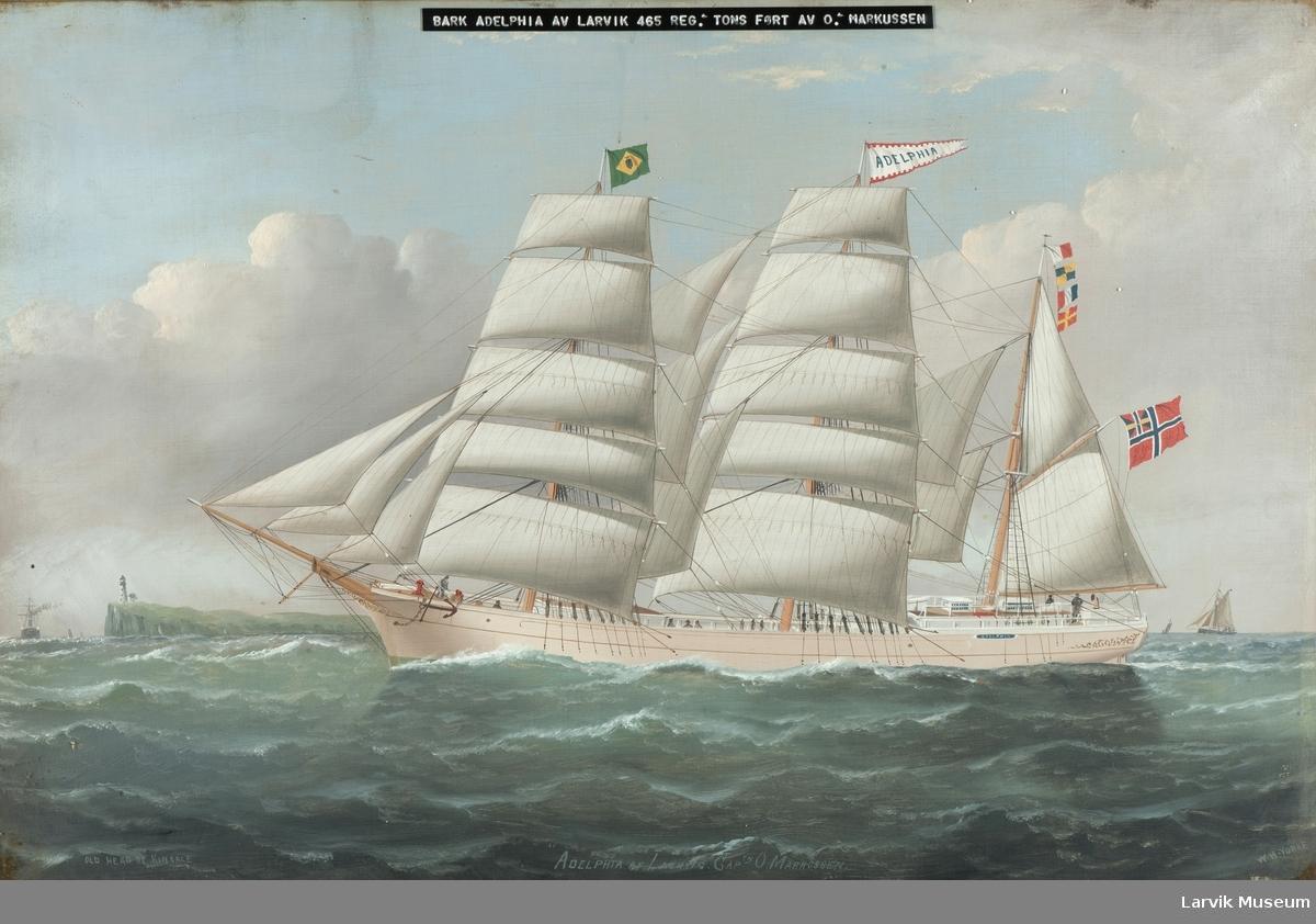 Barken Adelphia av Laurvig
