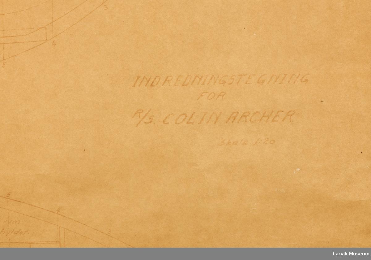 Inredningstegning for Colin Archer båt.