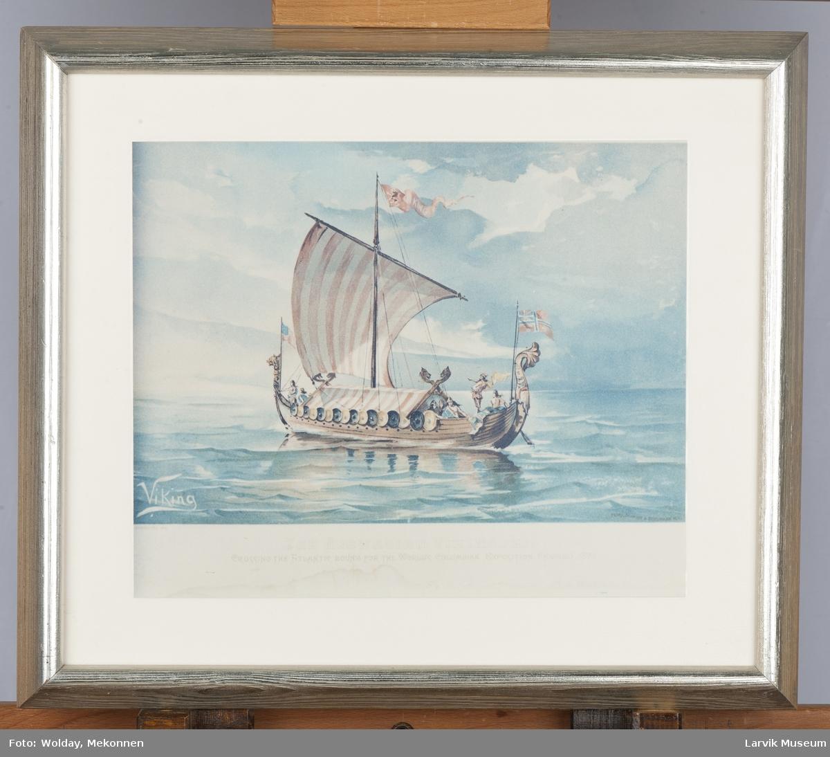 """""""Viking"""" over Atlanteren på vei til Chicago."""