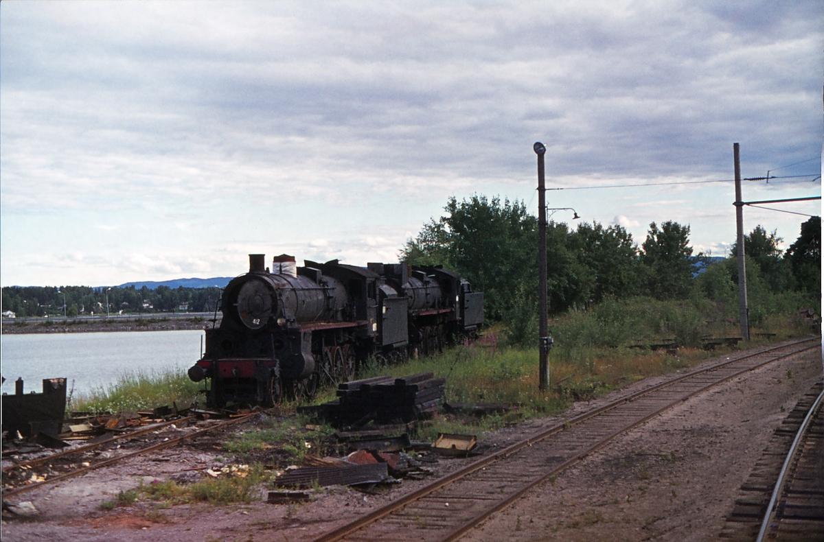Utrangerte damplokomotiver på Hamar.