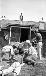 Inspelning av filmen Ådalen -31 med Bo Widerberg, Peter Schi
