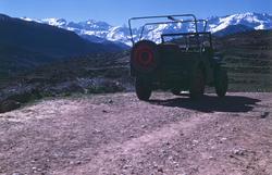 Foto på en Jeep i Marocko.