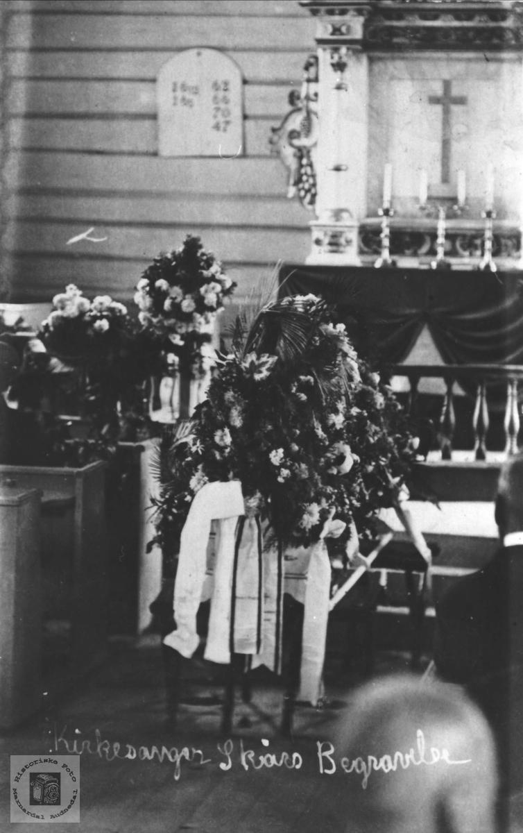 Kirkesanger Skaars begravelse