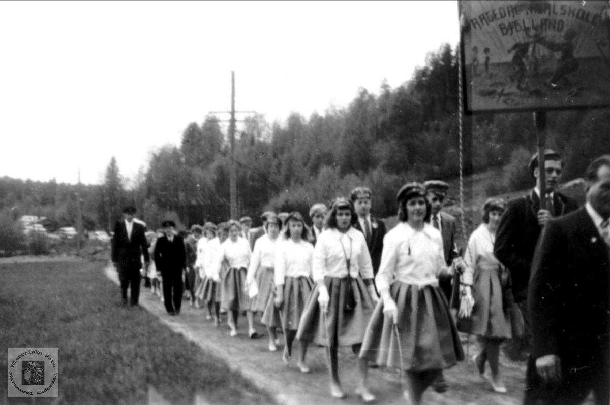 Realskolen på Aagedal 1960.