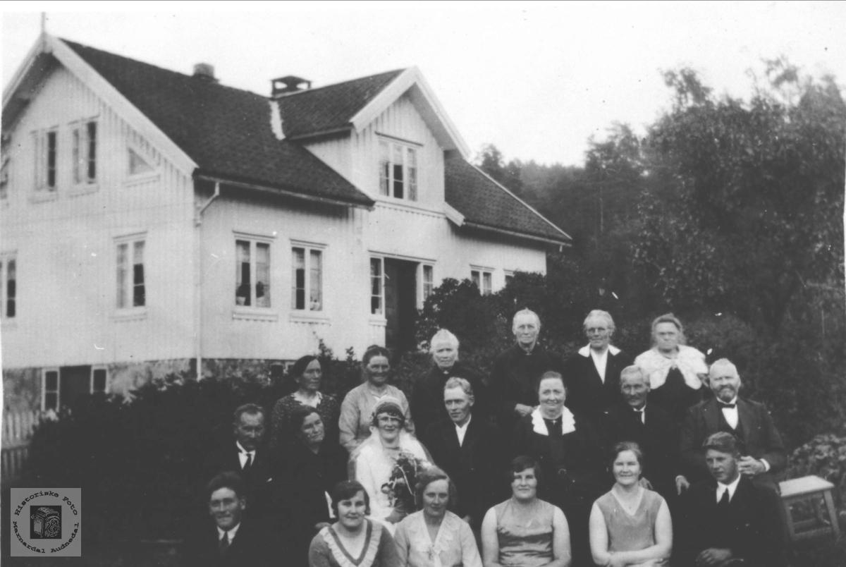 Olav A. Fidjestøls bryllup