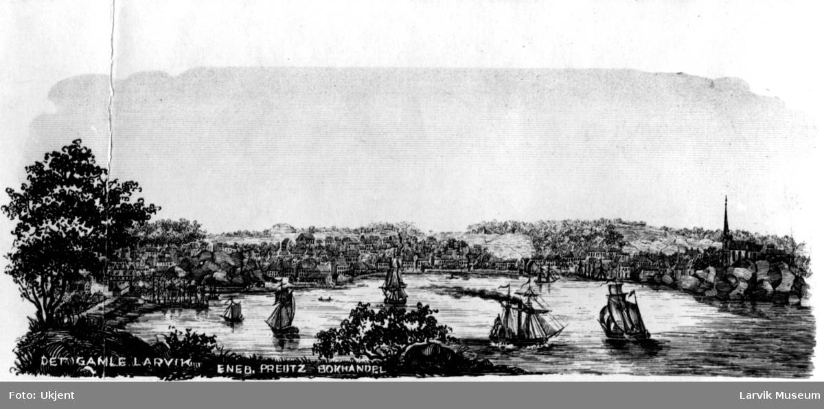 havnemotiv, det gamle Larvik