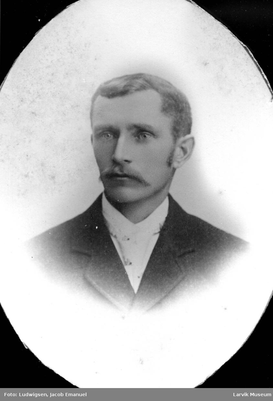 portrett, mann, kaptein Christensen