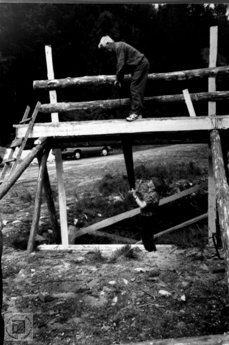Bygging av oppgangsag Røyrvann