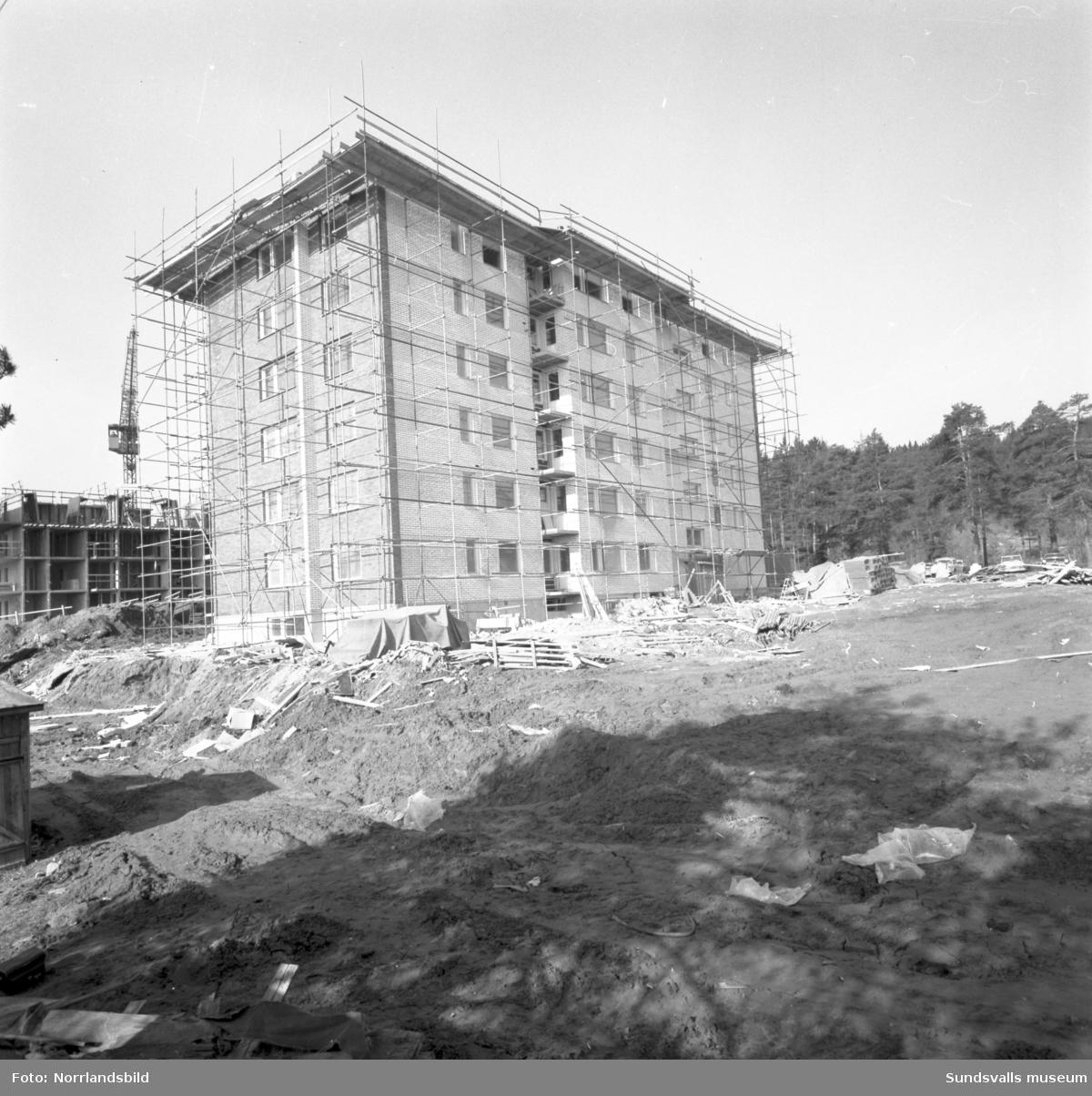 Bygge av flerfamiljshus vid Skogsvägen i Timrå.