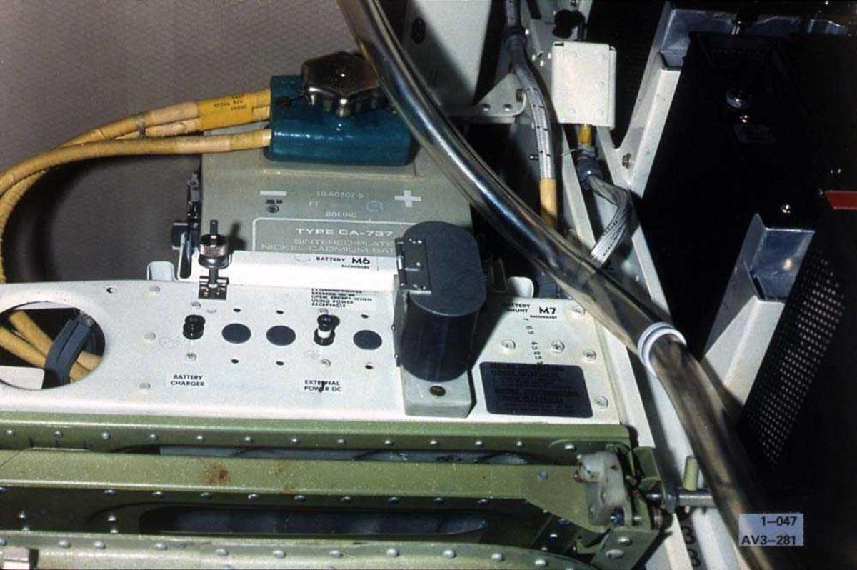 Batteri/strømdel til en Boeing 737.