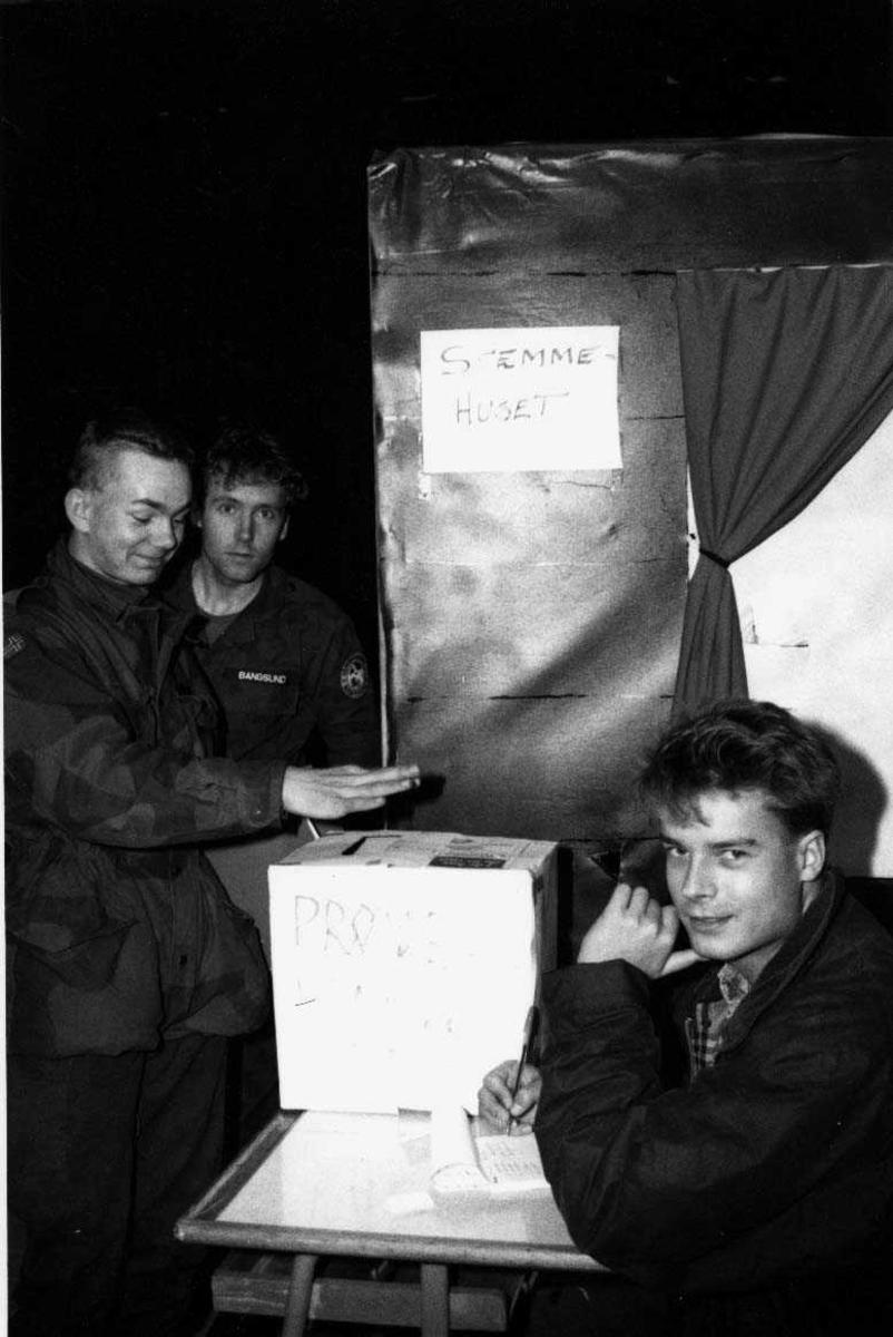Gruppe.  Valg 1991  prøvestemming.