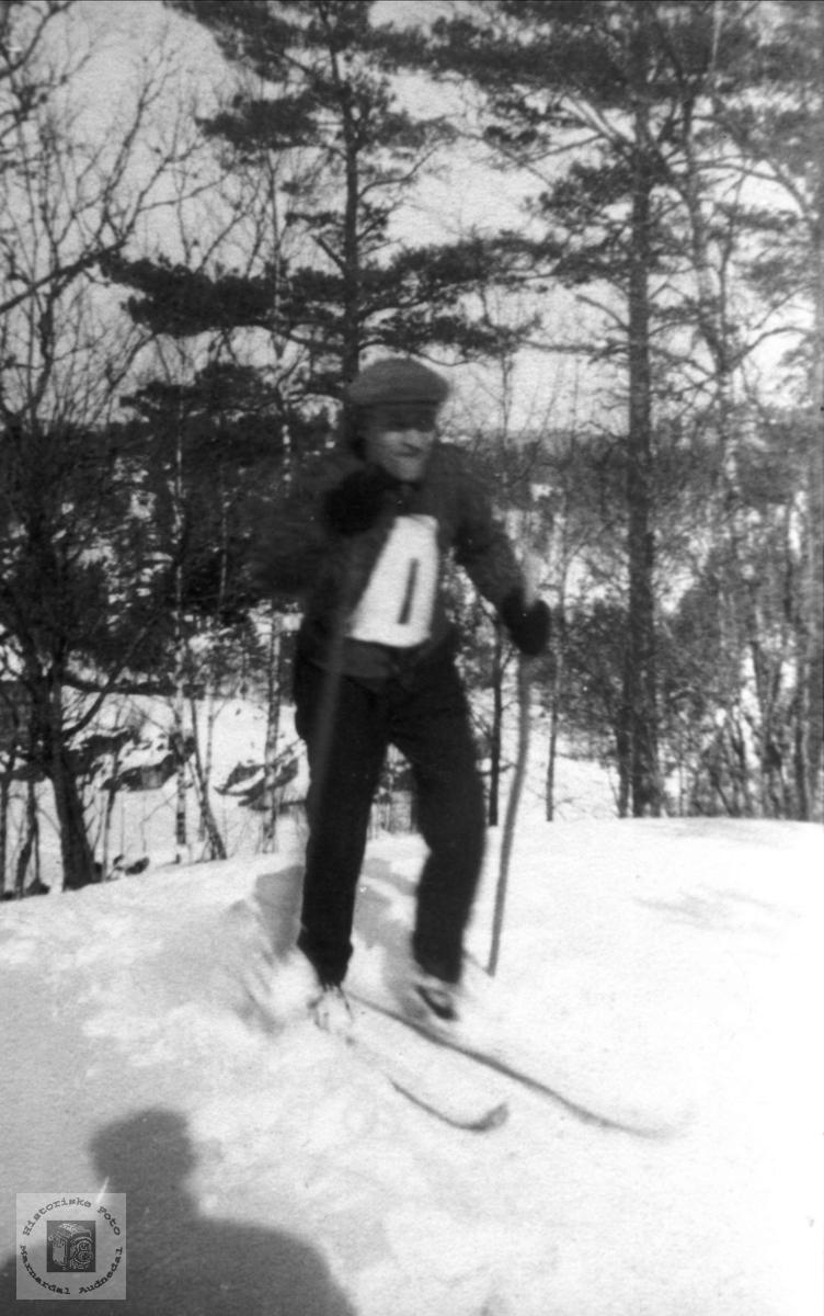 På ski. Gubberenn