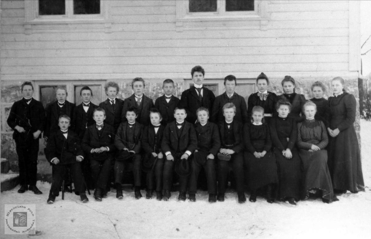 Skolebilde Øyslebø skole