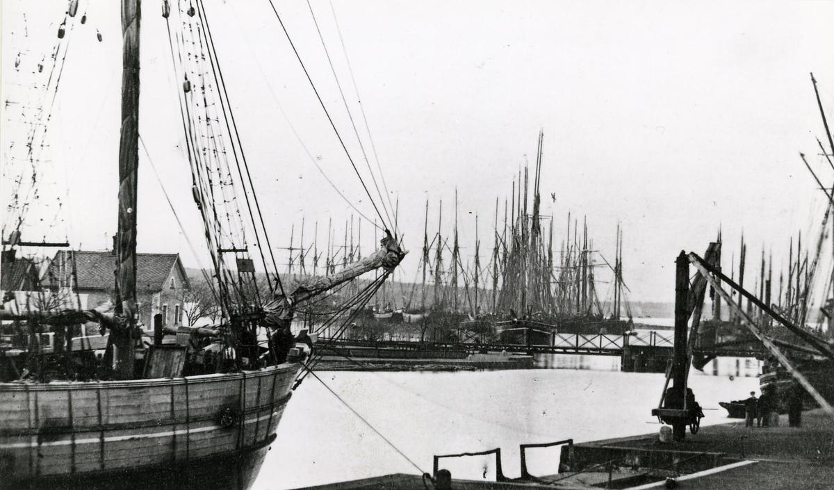 Hamnen i Vänersborg d. 15 maj 1867.
