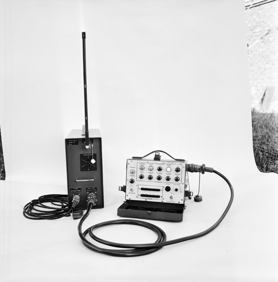 Övrigt: Foto datum: 29/9 1966 Byggnader och kranar Radioanläggning. Närmast identisk bild: V36740, ej skannad