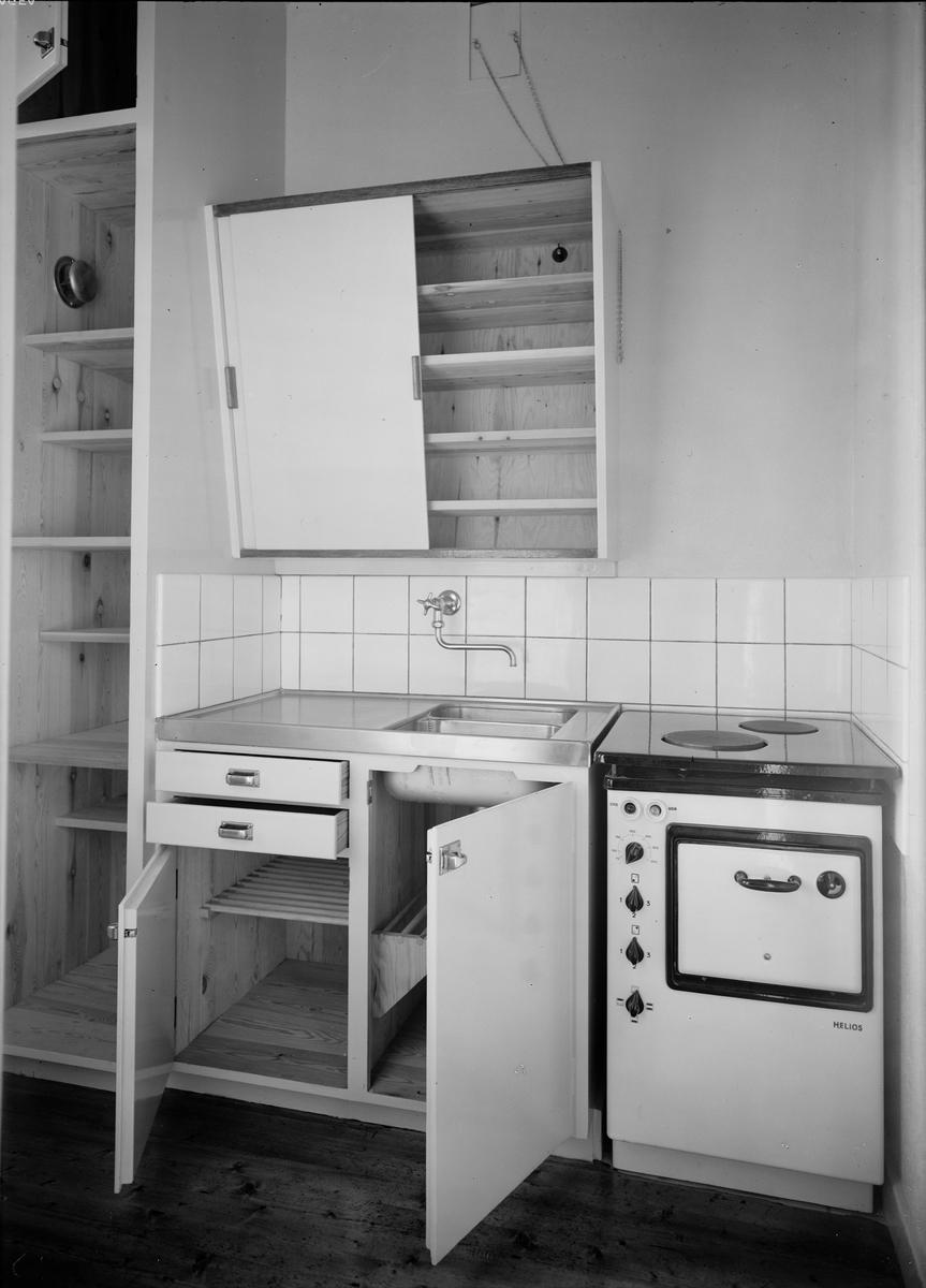 """""""Interiör från kokvrå"""" i det nya pensionärshemmet i kvarteret Gösta, Fålhagen"""
