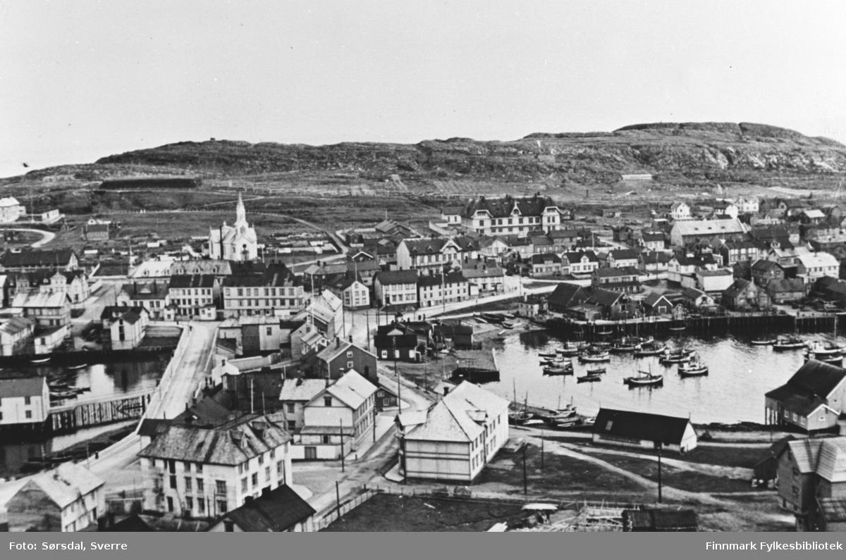 Bildet over Vardø by 1936.