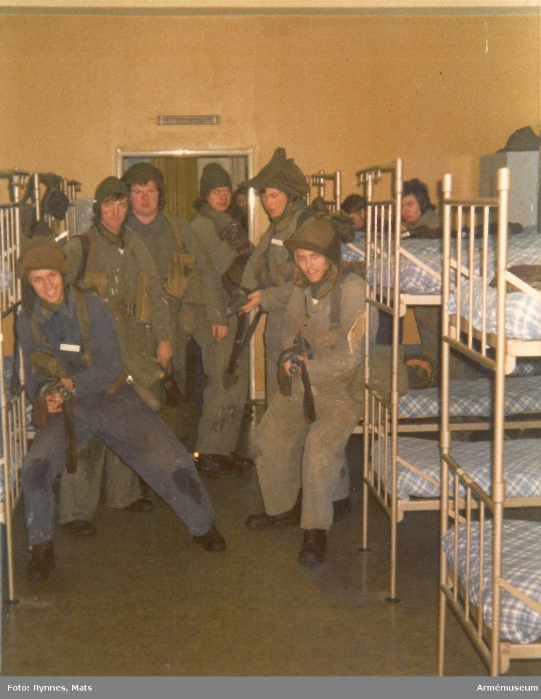 Gruppbild på logement, Gotlands kustartilleriregemente, KA3.