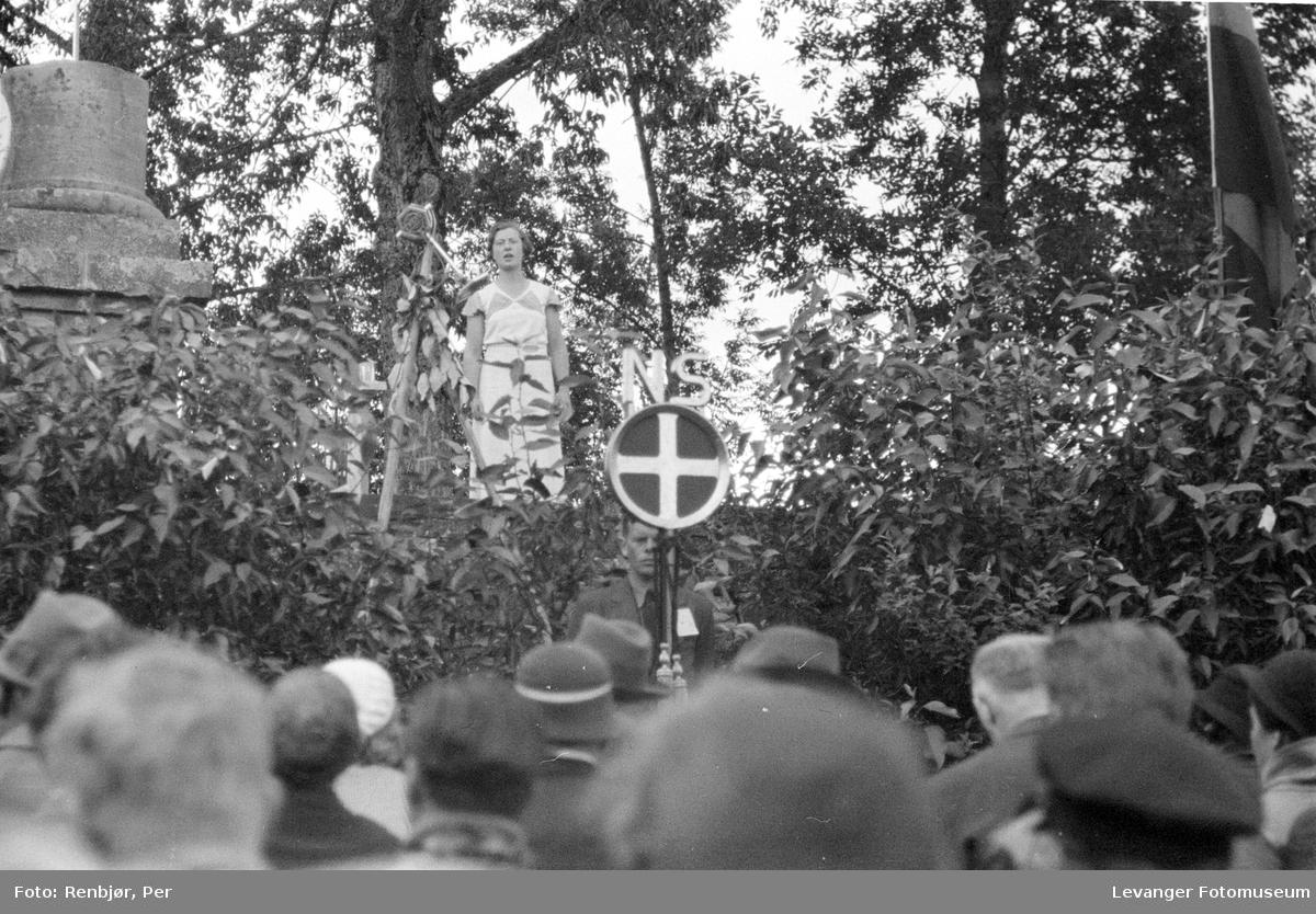 Fra Nasjonals Samlings riksmøte på Stiklestad i 1934.
